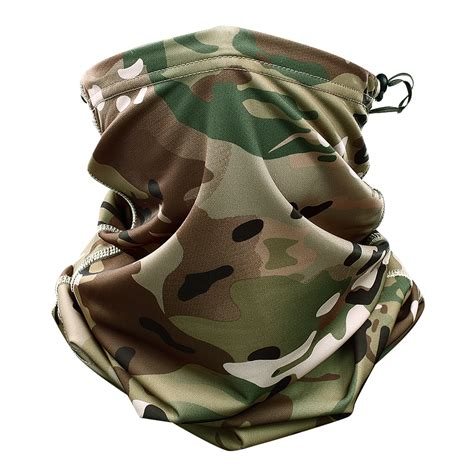 multicam camouflage tactical neck gaiter tube face mask