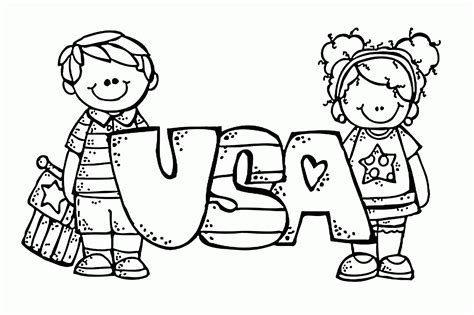 usa coloring page coloring home