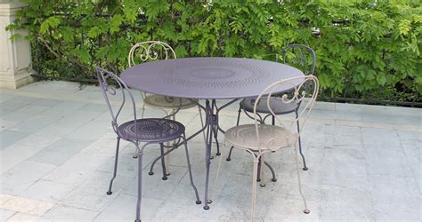 ambiance tables et chaises reims 1900 table 117 cm garden table for 6