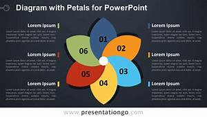 Diagram With 6 Petals For Powerpoint