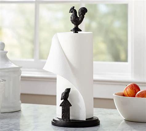 restaurant table top paper towel holder rooster paper towel holder pottery barn