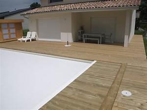 Tour De Piscine Bois : tour de piscine en pin avec margelle et cache volet ~ Premium-room.com Idées de Décoration