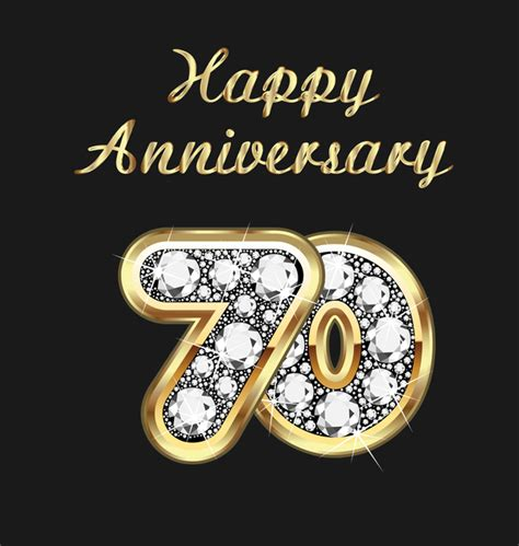 happy  anniversary gold  diamonds background vector