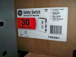 Ge Thn3361 30amp 600v Non Fused Disconnect Safety Switch