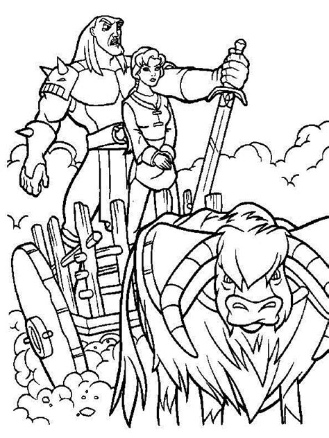 Coloring Quest by The Magic Sword Quest For Camelot Coloring Pages For