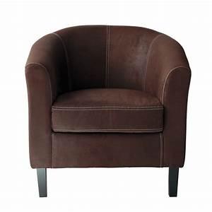 Fauteuil Crapaud Maison Du Monde : fauteuil en microfibre marron baltimore maisons du monde ~ Melissatoandfro.com Idées de Décoration