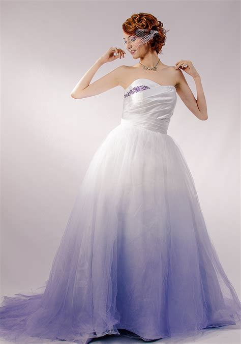 blue and purple wedding dress purple ombre tulle wedding dress couture by