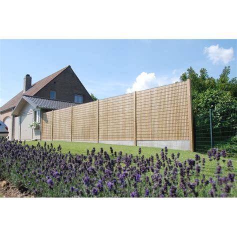 Brise vue grillage et bois Collfort pour jardin privatif