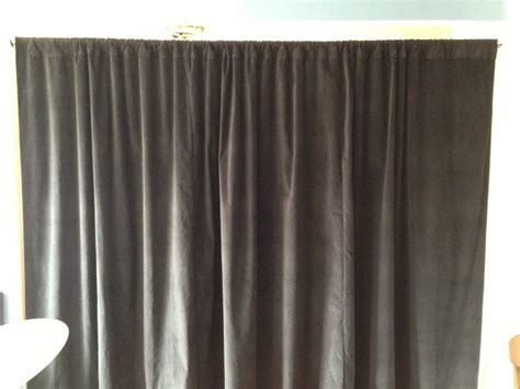 black velvet curtain soundproofing room divider our