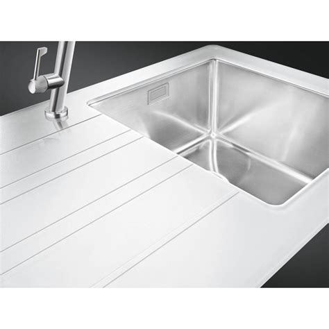 white glass kitchen sink smeg lmn1vbd newson design kitchen sink 1 bowl brushed 1310