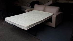 ex display dante pebble leather 25 seater sofa bed With sofa bed support panel