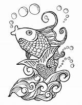 Coloring Koi Fish Adult Adults Printable Colouring Mandala Animal Sheets Drawing Pond Jitterfly Colorear Mandalas Colors Painting Books Dot Ponds sketch template