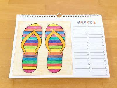 kalender zum selber basteln werken bastelkalender august materialwiese