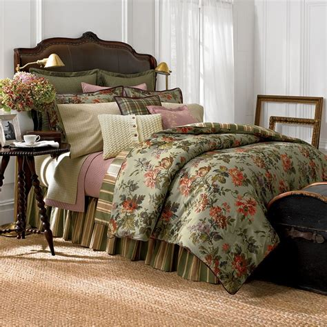 chaps home brittany green floral comforter for green