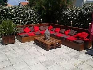 Salon De Jardin En Palette Moderne : salon de jardin en palette en 20 id es tendance ~ Melissatoandfro.com Idées de Décoration