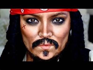 Maquillage Pirate Halloween : captain jack sparrow makeup tutorial transformation ~ Nature-et-papiers.com Idées de Décoration