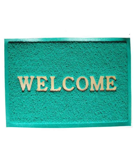 Green Welcome Mat by Majesty Home Decor Welcome Crush Green Door Mat Buy