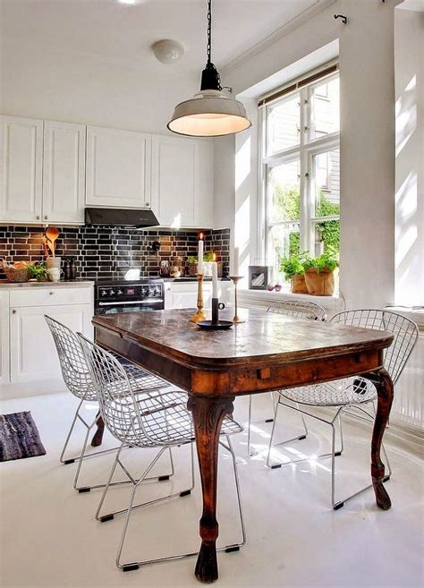antique black kitchen table contemporary kitchen with antique table and modern chairs