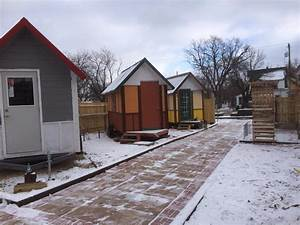 Tiny House Community for Homeless Finishes 3rd Tiny Home