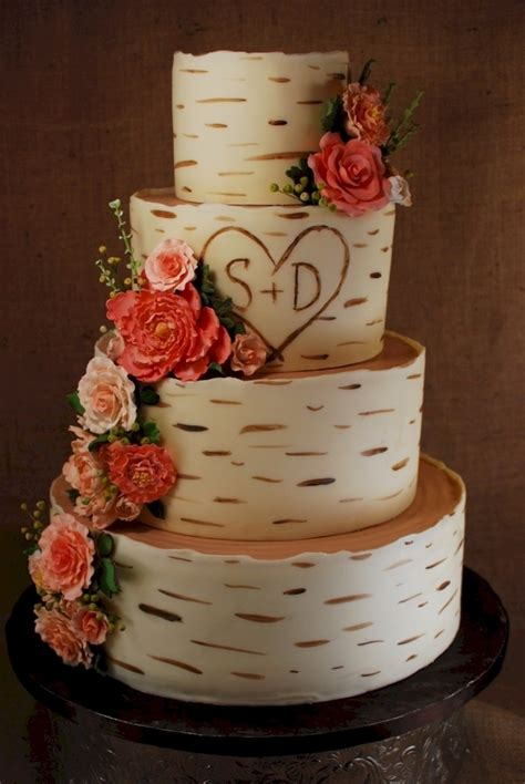 birch wood grain wedding cake cakecentralcom