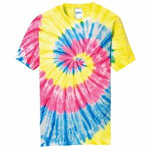 Design line Custom Printed Port & pany Tie Dye Neon