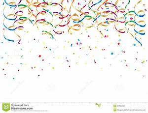Party Streamers And Confetti Stock Vector - Image: 41435298