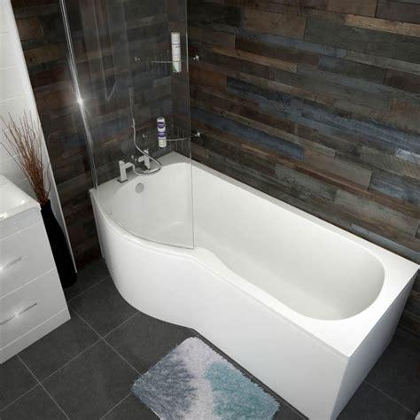 Buy Shower Bath by Patello B P Shaped Shower Bath Left Handed 1700 Buy