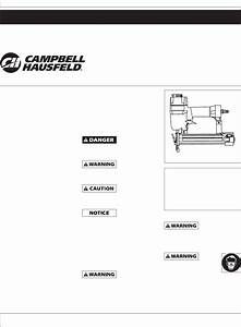 Campbell Hausfeld Nail Gun Nb003008 User Guide