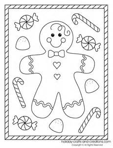 Christmas Gingerbread Boy Coloring Pages