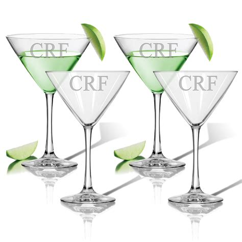 personalized st patricks cocktail glasses  dann gift boxed    usa