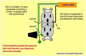Wiring Diagram For A Grounded Duplex Receptacle  With