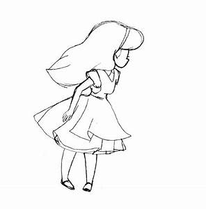 gif drawing girl cute disney Little Alice In Wonderland ...