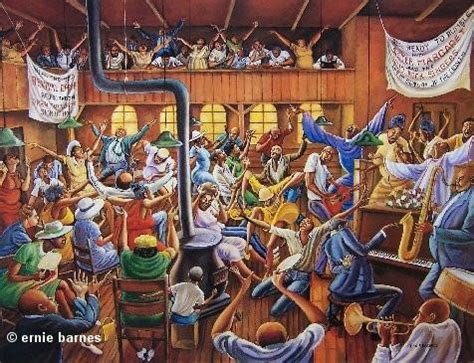 ernie barnes paintings for solid rock congregation 24x32 signed print ernie