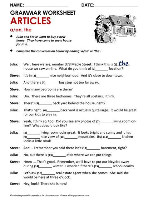 worksheets for grammar grammar worksheets free
