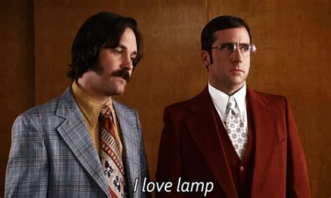 Anchorman I Love Lamp by Me Trying To Make Conversation Gif Anchorman Discover