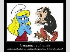 Gargamel y Pitufina Desmotivaciones