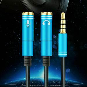 3 5mm 1 Male To 2 Female Audio Splitter Aux Y Cable