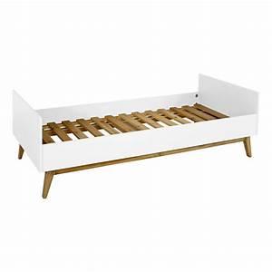 Lit Blanc 1 Personne : lit 1 personne trendy 90x200 cm blanc quax design enfant ~ Teatrodelosmanantiales.com Idées de Décoration