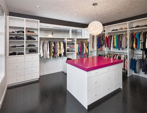 walk in closet contemporary closet edmonton by
