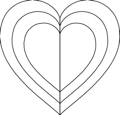 3 Inch Heart Template  Invitation Template