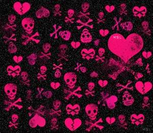 skull-bling-heart-bones.png (344×299) | bad ass skulls ...