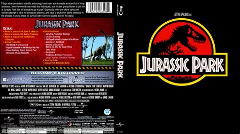 Jurassic Park Cover by Jurassic Park Movie Blu Ray Custom Covers Jurassic