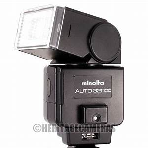 Minolta 320x Powerful Bounce Swivel Wide Dedicated Auto And Variable Power Manual Flash For X Xg
