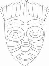 Coloring Mask African Template Mayan Printable Masks Mascaras Crafts Masques Africains Aztec Indian Greek Masque Arte Theme Colorier Desenhos Cultural sketch template