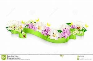 Spring Flowers And Ribbon Royalty Free Stock Image - Image ...
