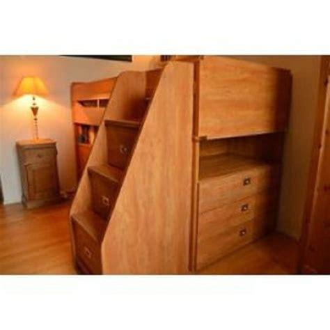 lit et bureau ado lit compact enfant ado avec bureau et casiers achat et