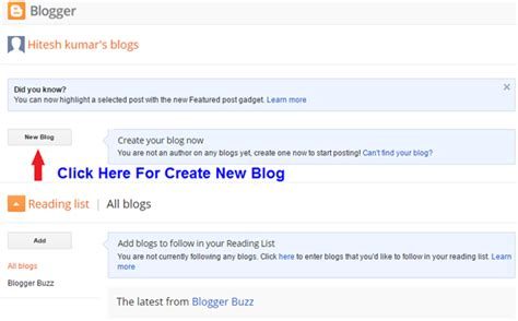 How To Create Blog  How To Create Free Blog Sitesbay