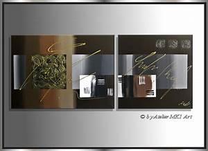Bilder Acryl Modern : mk1 art bild leinwand abstrakt gem lde acryl malerei bilder modern braun xxl ~ Sanjose-hotels-ca.com Haus und Dekorationen