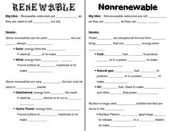 renewable non renewable resources worksheet worksheets for