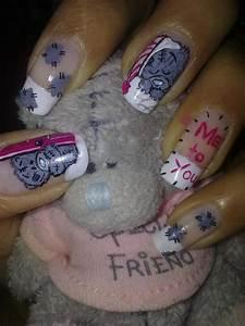 Cute lil teddy bear nail art | Mick's Nail Art Designs ...